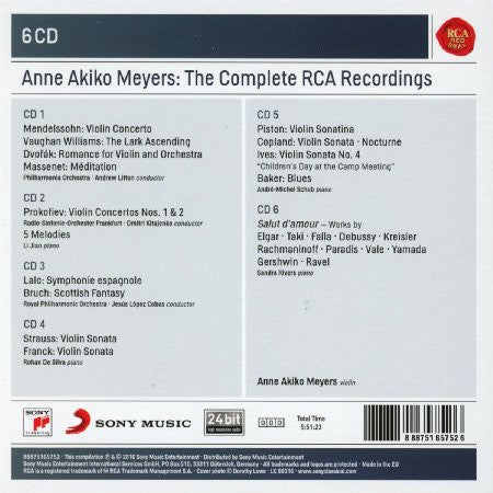 Anne Akiko Meyers - The Complete RCA Recordings (6 CDs)