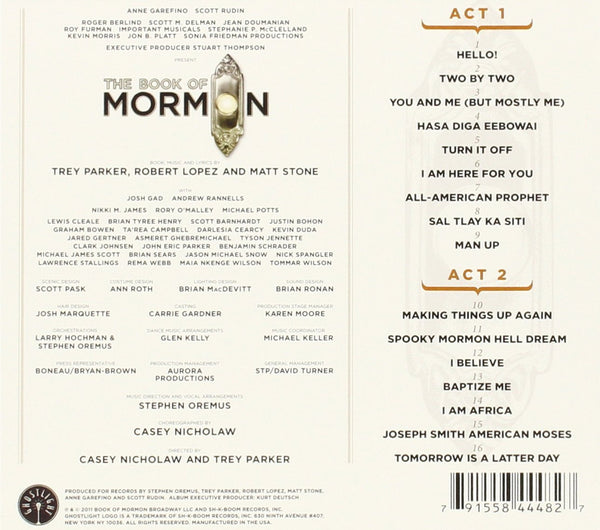 THE BOOK OF MORMON - ORIGINAL CAST RECORDING