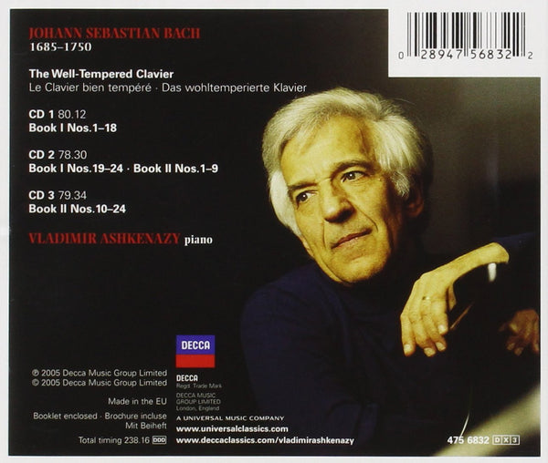 BACH, J.S.: THE WELL-TEMPERED CLAVIER, BOOKS 1 & 2 (4 CDS)