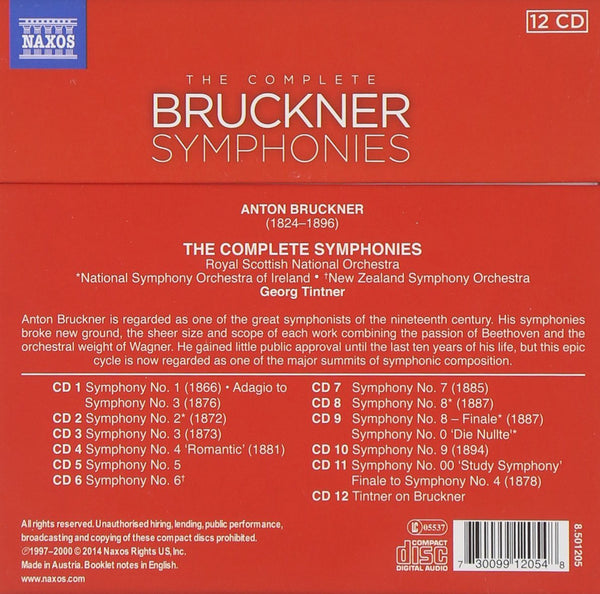 Bruckner: The Complete Symphonies (12 CDS)