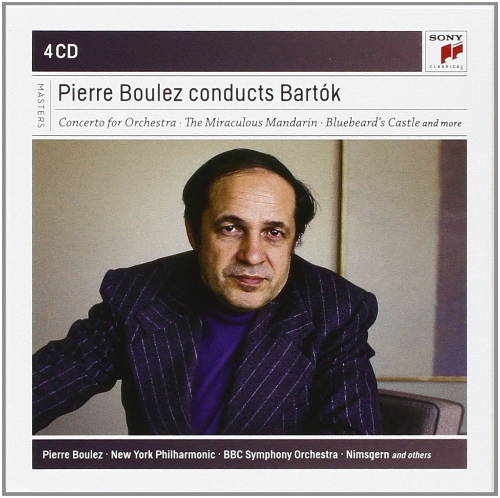 PIERRE BOULEZ CONDUCTS BARTOK (4 CDS)