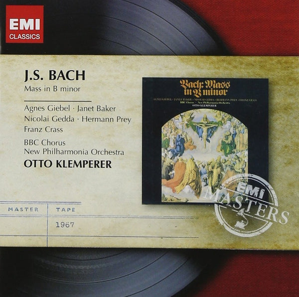 BACH: MASS IN B MINOR - EMI MASTERS; KLEMPERER, OTTO (2 CDs)
