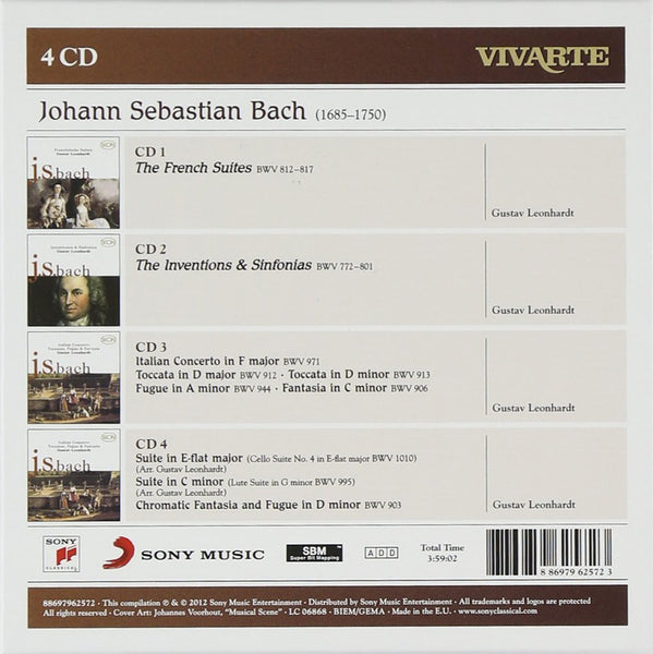 BACH, J.S.: FRENCH SUITES, INVENTIONS and OTHER WORKS - Gustav Leonhardt (4 CDs)
