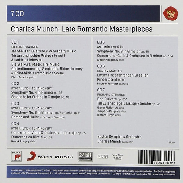 CHARLES MUNCH: LATE ROMANTIC MASTERPIECES - Boston Symphony Orchestra (7 CDS)