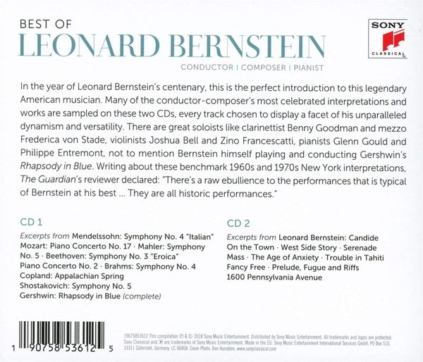 Best of Leonard Bernstein (2 CDS)
