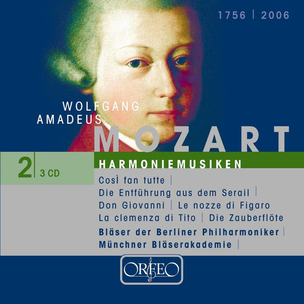 MOZART: HARNONIEMUSIK - COSI FAN TUTTE, DIE ENTFUHRUNG, DON GIOVANNI, LE NOZZE DI FIGARO, MAGIC FLUTE ARRANGED FOR WIND ENSEMBLE- WIND ENSEMBLE OF THE BERLINER PHILHARMONIKER; MUNCHNER BLASERAKADEMIE (3 CDS)