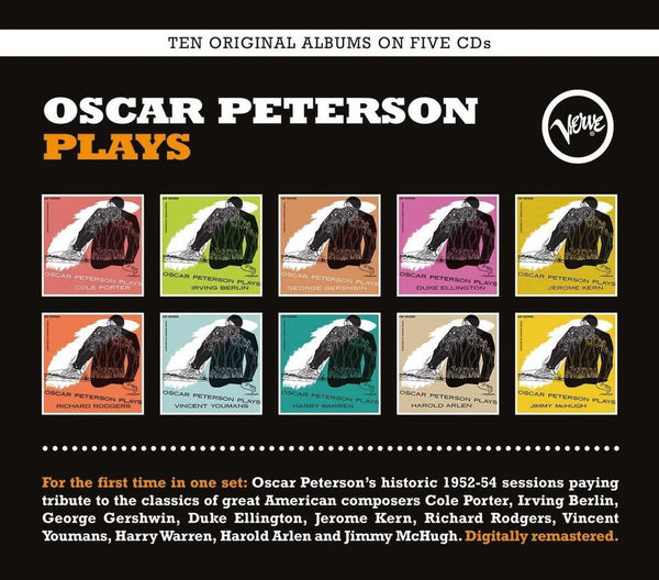 OSCAR PETERSON TRIO: OSCAR PETERSON PLAYS (10 LPS ON 5 CDS)
