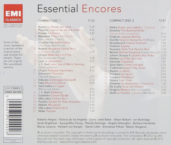 ESSENTIAL ENCORES (2 CDS)