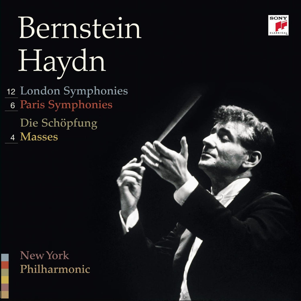 LEONARD BERNSTEIN CONDUCTS HAYDN - London and Paris Symphonies, 4 Masses and Die Schopfung (12 CDs)