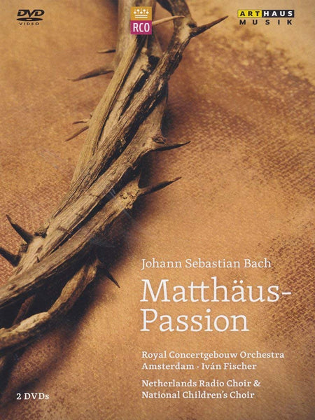 BACH: MATTHAUS-PASSION (2 DVDS) - PADMORE; HARVEY; ARENDS; DANZ; GIJSBERTSEN; NEVEN; NETHERLANDS RADIO CHOIR; ROYAL CONCERTGEBOUW ORCHESTRA; FISCHER