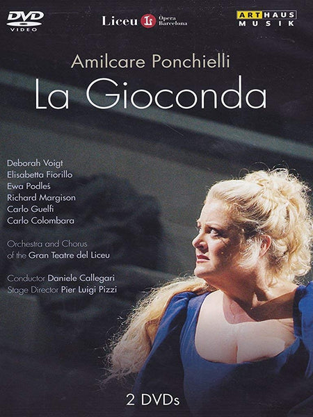 PONCHIELLI: LA GIOCONDA (2 DVDS) - VOIGT; FIORILLO; COLOMBARA; PODLES; GUELFI; ORCHESTRA AND CHORUS OF THE GRAN TEATRE DEL LICEU; CALLEGARI; PIZZI