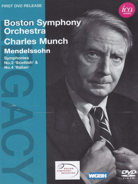 CHARLES MUNCH CONDUCTS MENDELSSOHN & MOZART (DVD) - MUNCH; BOSTON SYMPHONY ORCHESTRA