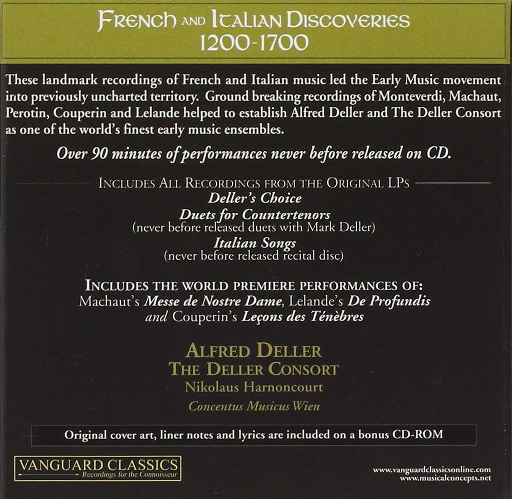 Alfred Deller: The Complete Vanguard Classics Recordings - French and  Italian Discoveries (6 CDs)