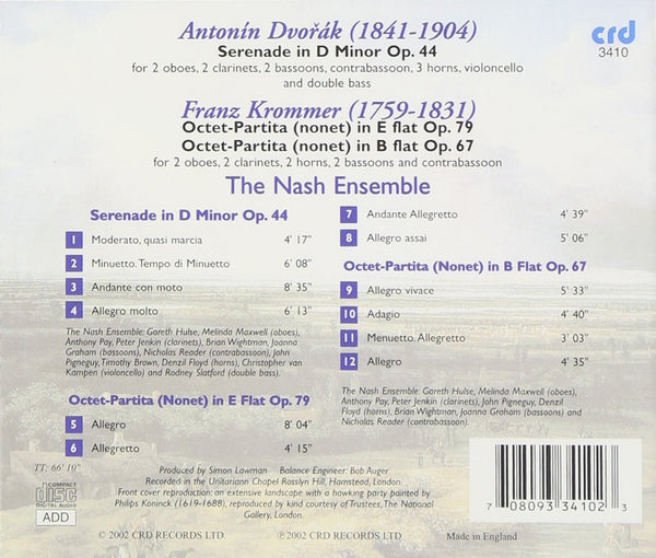 Dvorak and Krommer: Wind Serenades - Nash Ensemble