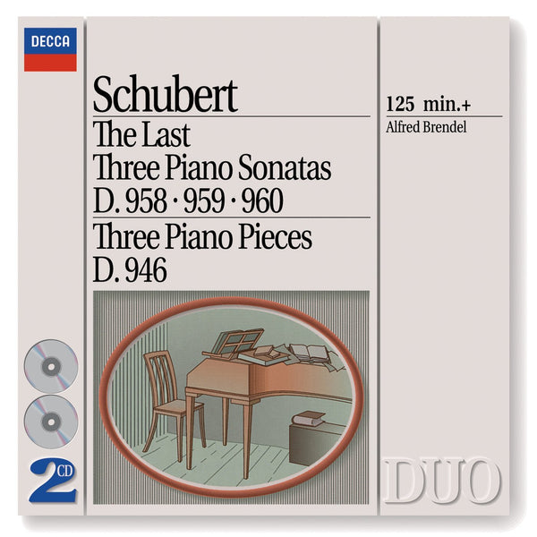 Schubert: The Last Three Piano Sonatas D. 958-960; 3 Piano Pieces - Brendel (2 CDs)