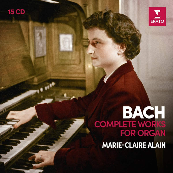 BACH: COMPLETE ORGAN WORKS - MARIE-CLAIRE ALAIN (15 CDS)