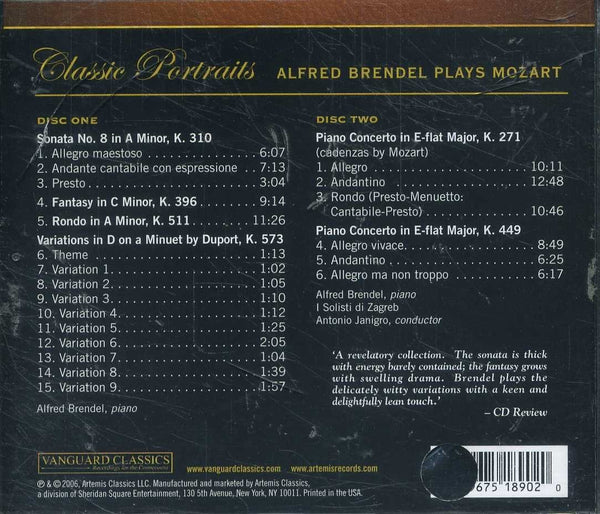 Alfred Brendel Plays Mozart (2 CDs)