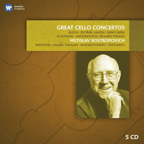 Rostropovich: Great Cello Concertos (5 CDs)