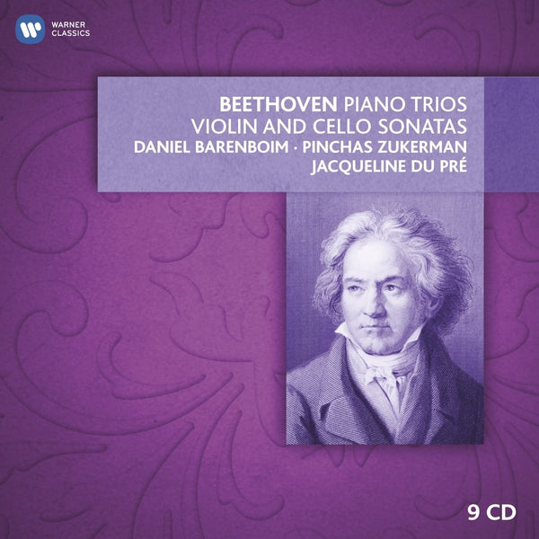 Beethoven: Piano Trios, Violin & Cello Sonatas - Barenboim, duPre, Zukerman (9 CDs)