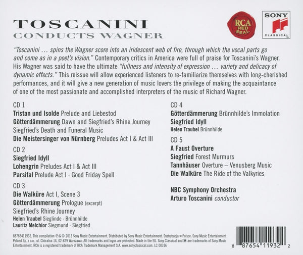 TOSCANINI CONDUCTS WAGNER (5 CDS)