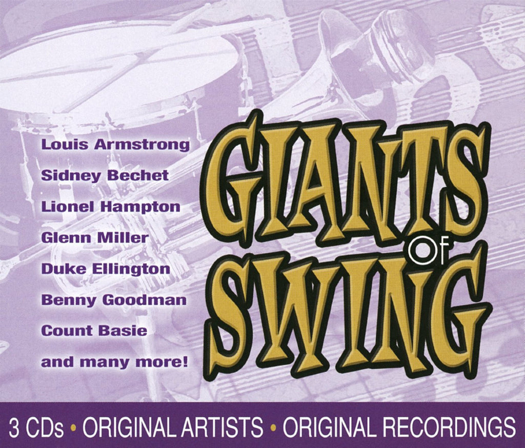 GIANTS OF SWING (3CD SET) Louis Armstrong, Sidney Bechet, Lionel Hampton, Glenn Miller and More