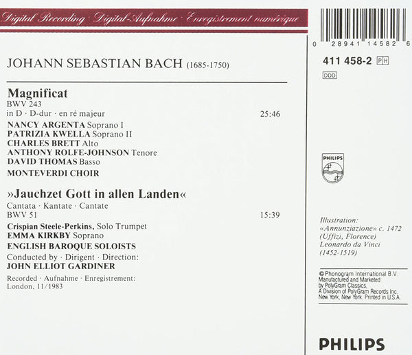 Bach: Magnificat; Cantata No. 51 - English Baroque Soloists, John Eliot Gardiner