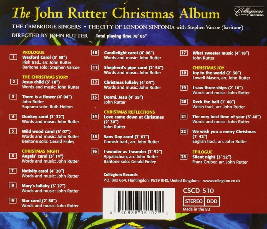 THE JOHN RUTTER CHRISTMAS ALBUM - The Cambridge Singers, City of ...