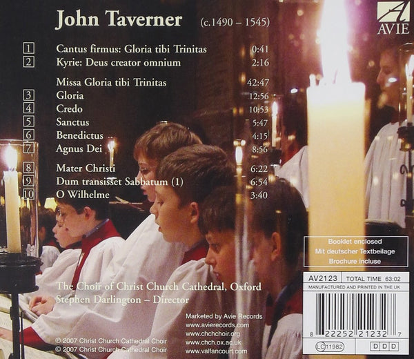 Taverner: Missa Gloria tibi Trinitas - Christ Church Cathedral Choir, Darlington