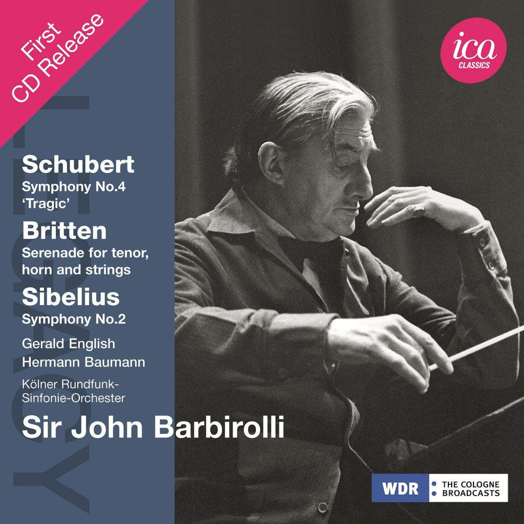 SIR JOHN BARBIROLLI CONDUCTS SIBELIUS, SCHUBERT & BRITTEN - SIR JOHN BARBIROLLI