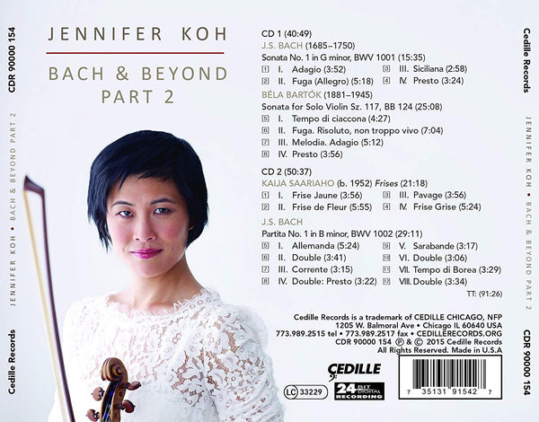 BACH AND BEYOND PART II: JENNIFER KOH (2 CDs)