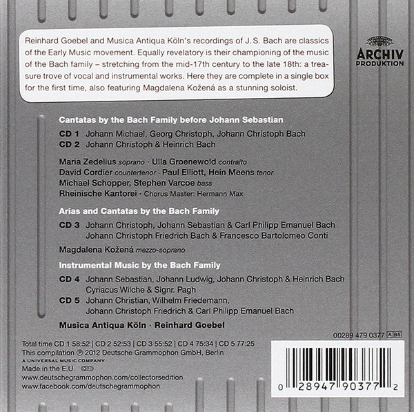 BACH BACHIANAS: MUSIC BY THE BACH FAMILY (5 CDS)
