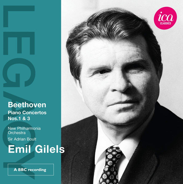 BEETHOVEN: PIANO CONCERTOS NOS. 1 & 3 - GILELS; NEW PHILHARMONIA ORCHESTRA; BOULT