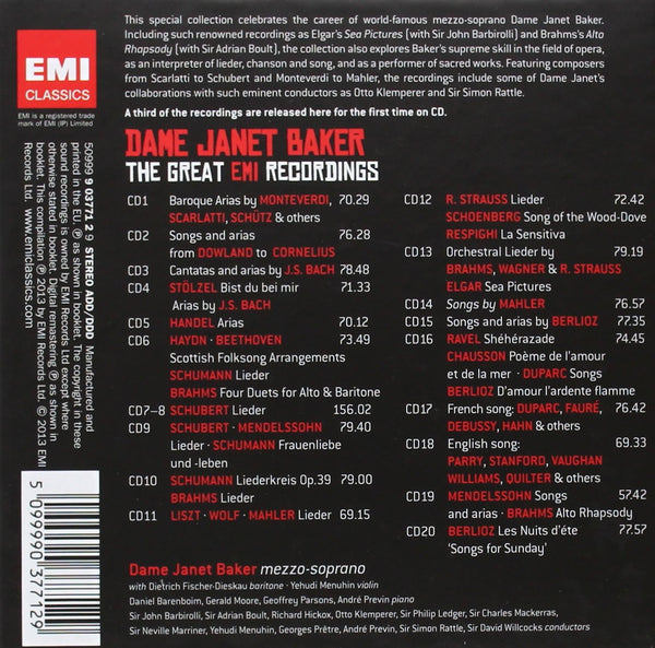 Dame Janet Baker - The Great EMI Recordings (20 CDs)