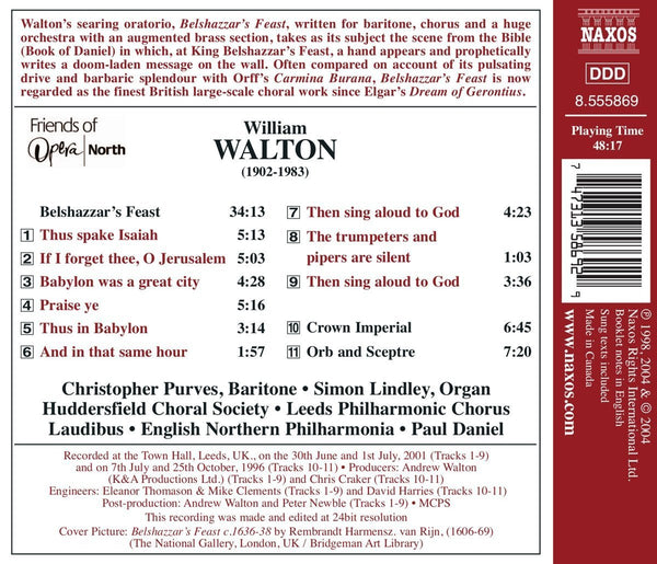 WALTON: Belshazzar's Feast-English Northern Philharmonia, Paul Daniel