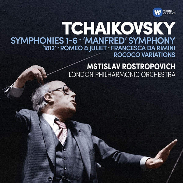 Tchaikovsky: Symphonies 1-6, Manfred Symphony, Overtures, Rococo variations - Rostropovich (6 CDs)