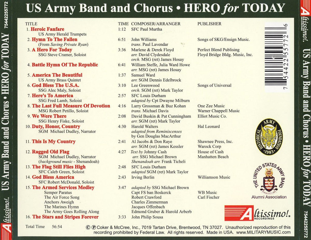 HERO FOR TODAY - US ARMY BAND