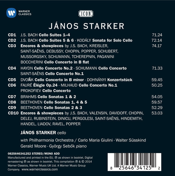 JANOS STARKER: Icon - The Warner Legacy (10 CDs)