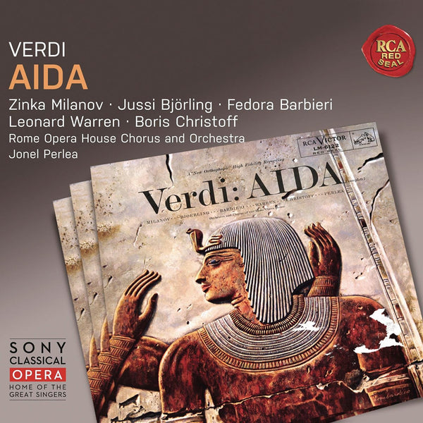 VERDI: AIDA - MILANOV, BJORLING, WARREN, CHRISTOFF (3 CDS)