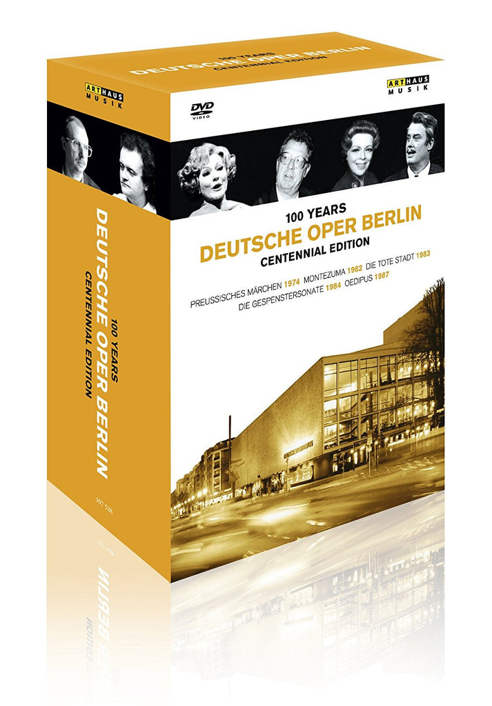 100 YEARS DEUTSCHE OPER BERLIN (5 DVDS) - RICHTER; OTTO; SARDI; ROHRL; ZEUMER; GROBE; ORCHESTRA CHORUS AND BALLET OF THE DEUTSCHE OPER BERLIN; PAPADJIAKOU; BOUL