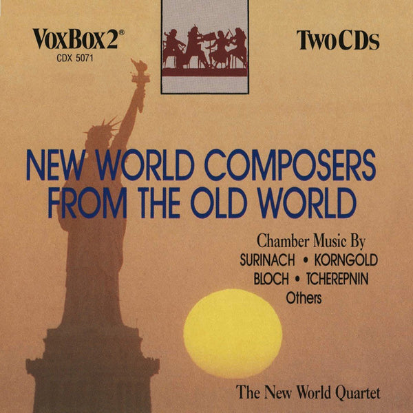 New World Composers from the Old World (Bloch, Rosza, Korngold, Hindemith, Surinam) 2 CDs