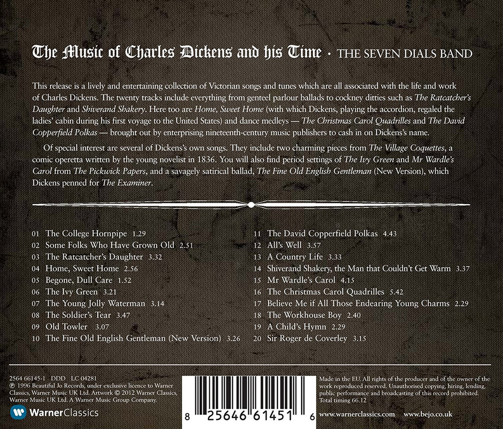 MUSIC OF CHARLES DICKENS AND HIS TIME - SEVEN DIALS BAND