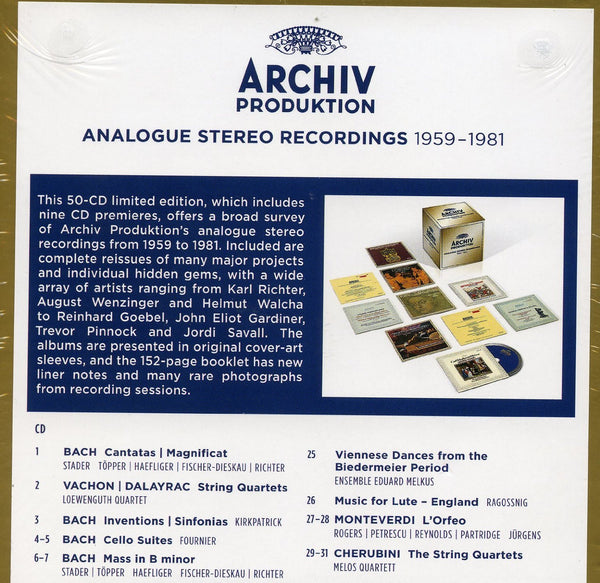 THE GOLDEN AGE OF ARCHIV PRODUKTION - ANALOGUE RECORDINGS 1959-1980 (30 CDS)