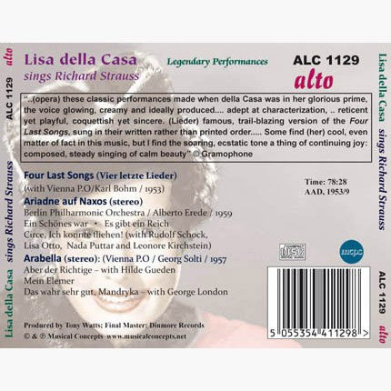 Lisa Della Casa sings Richard Strauss - Vienna Philharmonic, Berlin Philharmonic