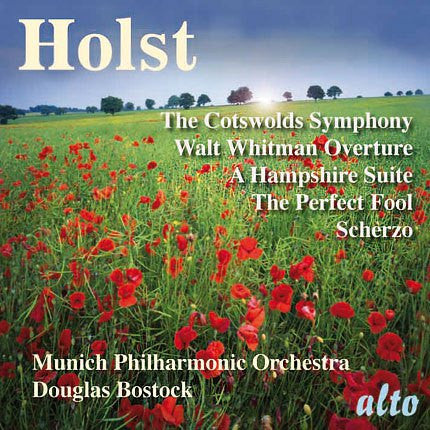 HOLST: Cotswolds Symphony, Walt Whitman Overture, and other works - Bostock, Munich Symphony Orchestra
