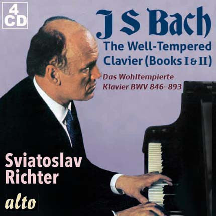 Bach: The Well-Tempered Clavier, Books I and II BWV 846-893 - Sviatoslav Richter (4 CDs)