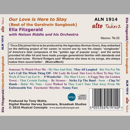Our Love Is Here To Stay: Ella Sings the Best of the Gershwin Songbook