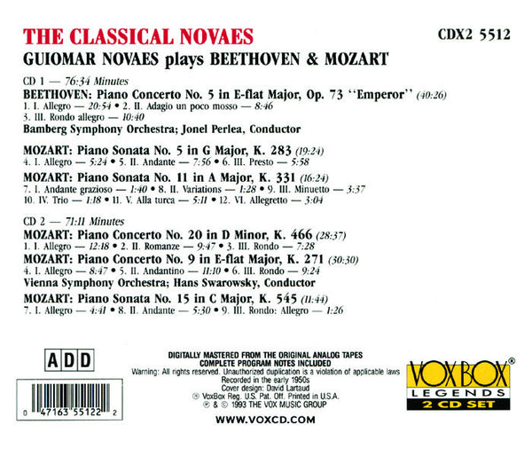 The Classical Novaes: Beethoven and Mozart (2 CDs)