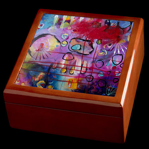 Abstract Art Jewellery box