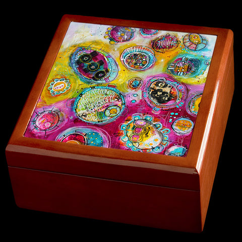 Personalised Jewellery box, abstract art