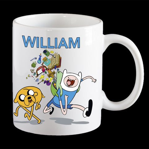 Personalised Adventure Time Coffee Mug, Jake and Finn Kids Plastic Mug